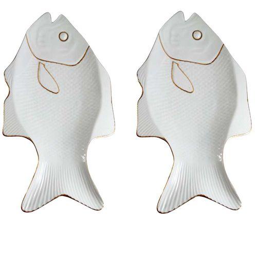 دیس طرح ماهی مدل MG2091 مجموعه دو عددی