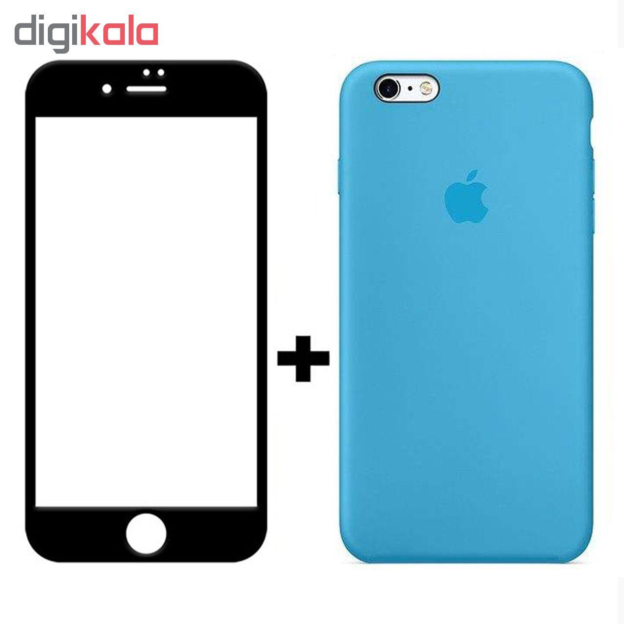 کاور سیلیکونی مدل SlC مناسب برای گوشی موبایل اپل آیفون 6/6s  به همراه محافظ صفحه نمایش 5D main 1 1