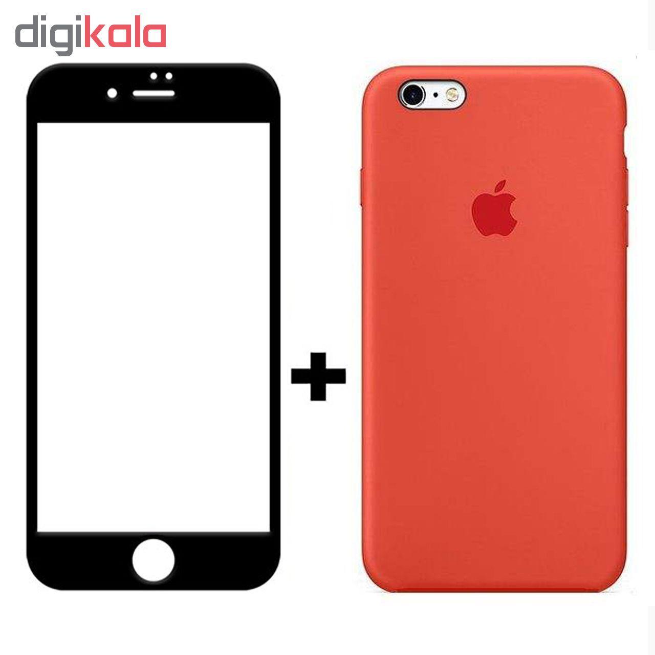 کاور سیلیکونی مدل SlC مناسب برای گوشی موبایل اپل آیفون 6/6s  به همراه محافظ صفحه نمایش 5D main 1 3