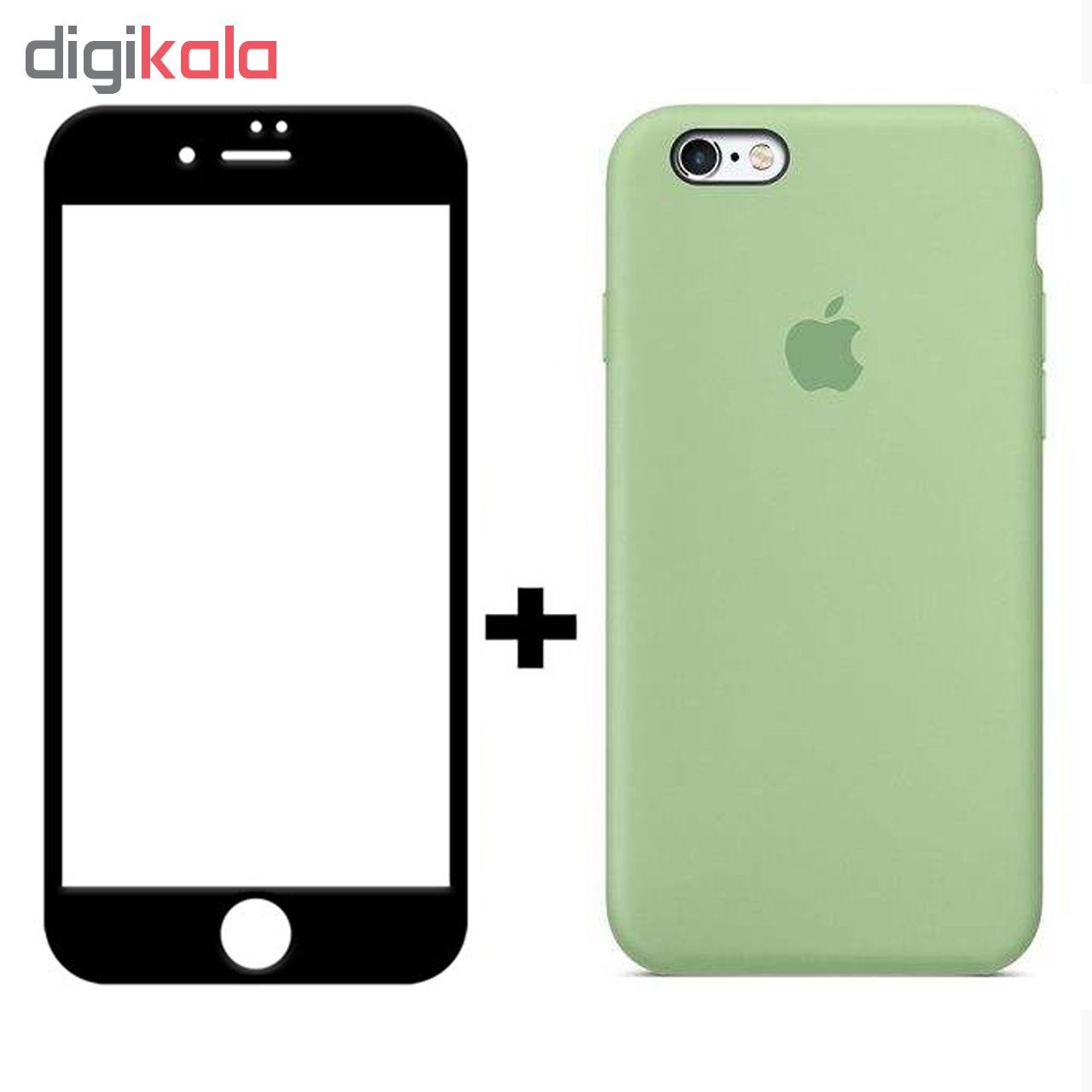 کاور سیلیکونی مدل SlC مناسب برای گوشی موبایل اپل آیفون 6/6s  به همراه محافظ صفحه نمایش 5D main 1 6