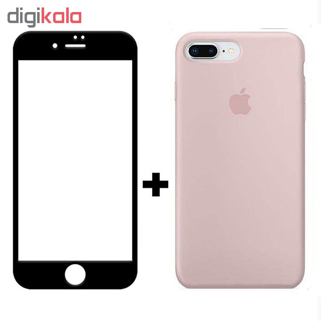 کاور سیلیکونی مدل SlC مناسب برای گوشی موبایل اپل آیفون 6/6s  به همراه محافظ صفحه نمایش 5D main 1 7