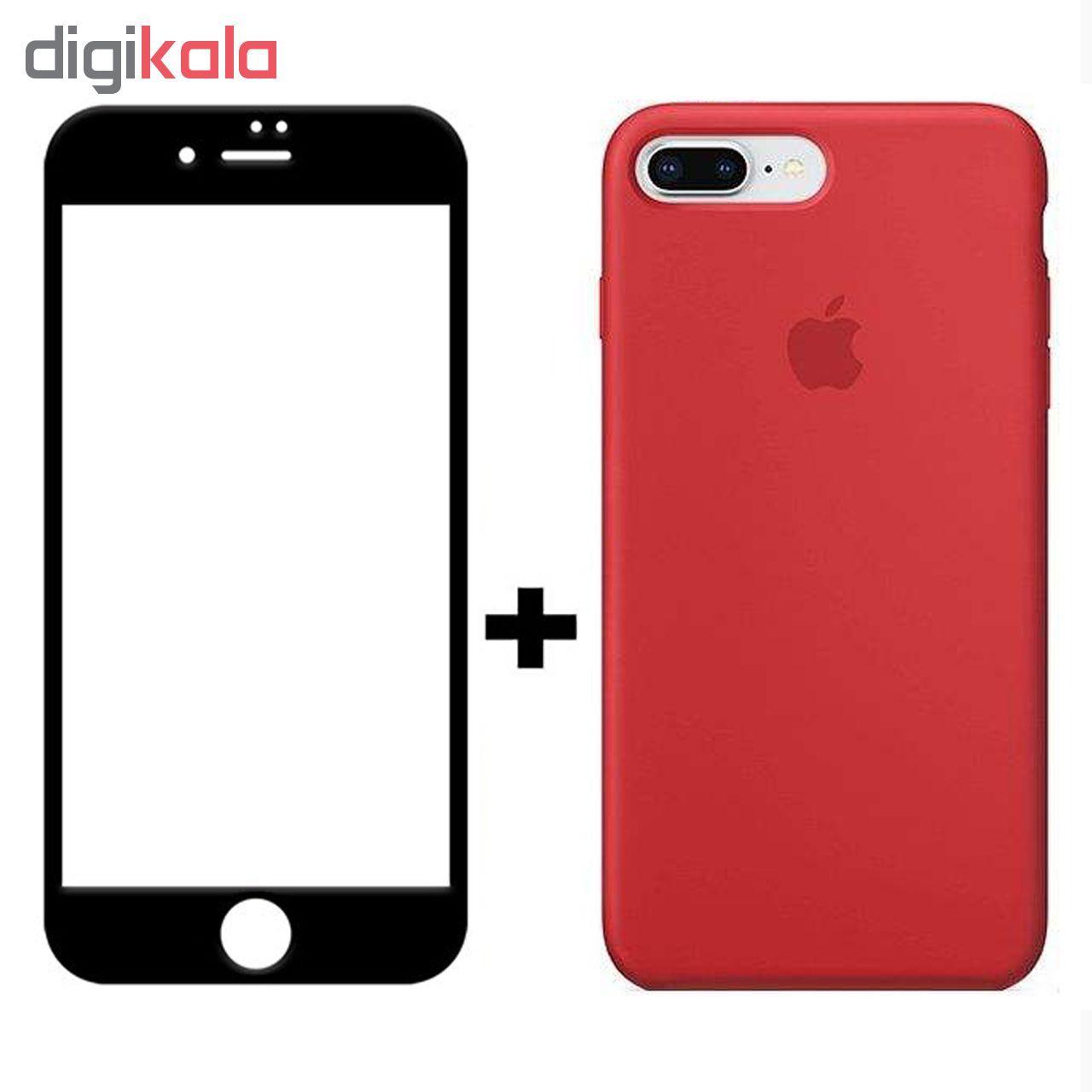 کاور سیلیکونی مدل SlC مناسب برای گوشی موبایل اپل آیفون 6/6s  به همراه محافظ صفحه نمایش 5D main 1 8