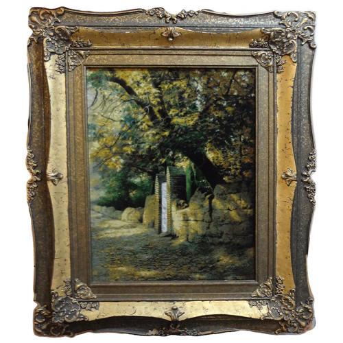 تابلوفرش دستباف طرح کوچه باغ پدر بزرگ کد 157751