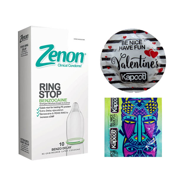 خرید                      کاندوم زنون مدل RING STOP بسته 12 عددی به همراه کاندوم کاپوت مجموعه 2 عددی