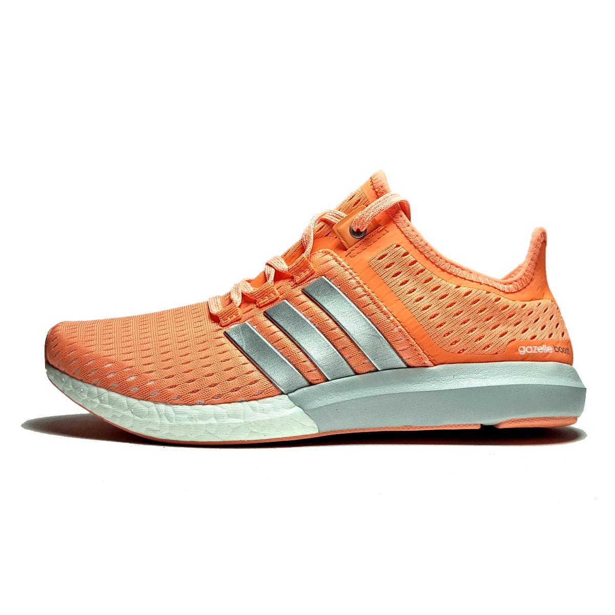 کفش مخصوص پیاده روی زنانه آدیداس Climachill Gazelle Boost مدل Funky Orange Grey