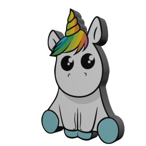 پیکسل طرح اسب تک شاخ مدل Unicorn13