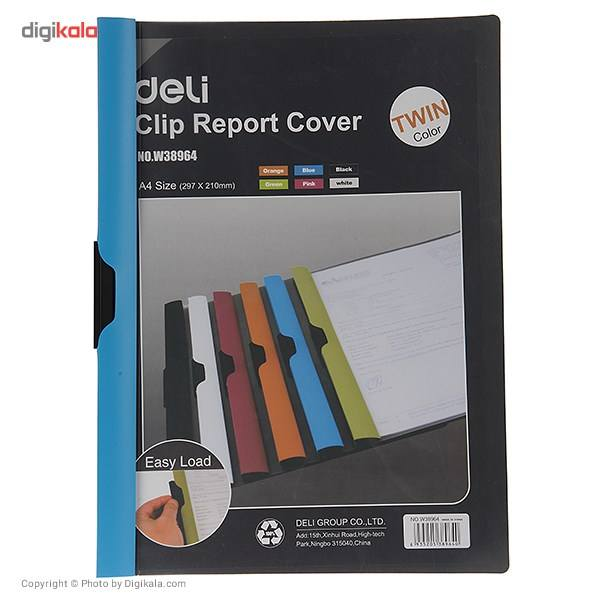 کاور کاغذ A4 دلی مدل Twin Color E38964  - با گیره متحرک main 1 9