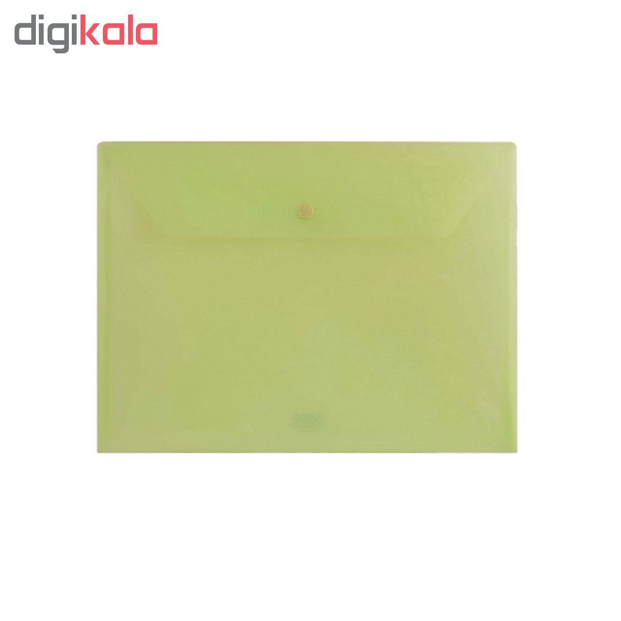 پوشه دکمه دار پاپکو مدل شفاف کد A4-104 بسته 4 عددی