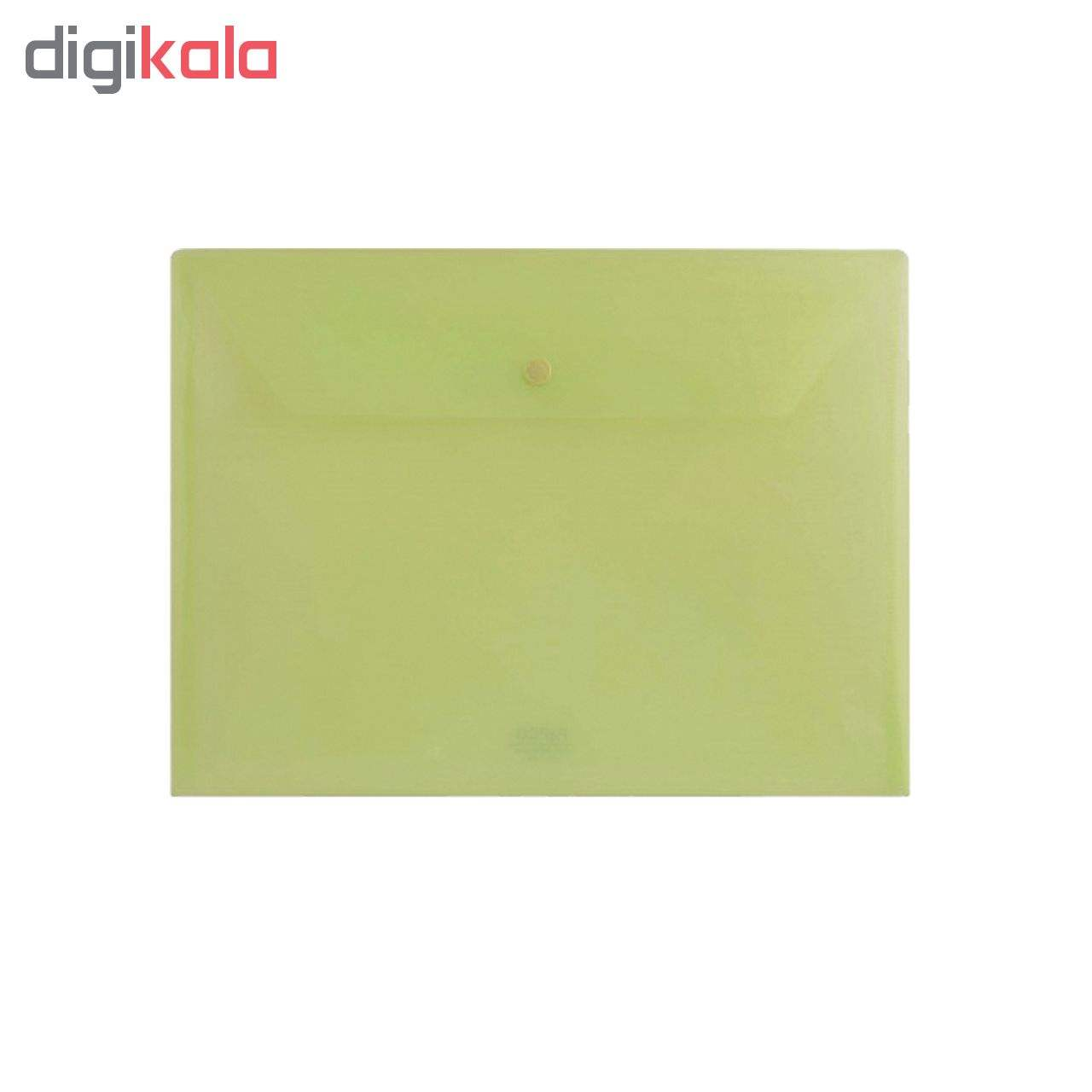پوشه دکمه دار پاپکو مدل شفاف کد A4-104 بسته 4 عددی main 1 2