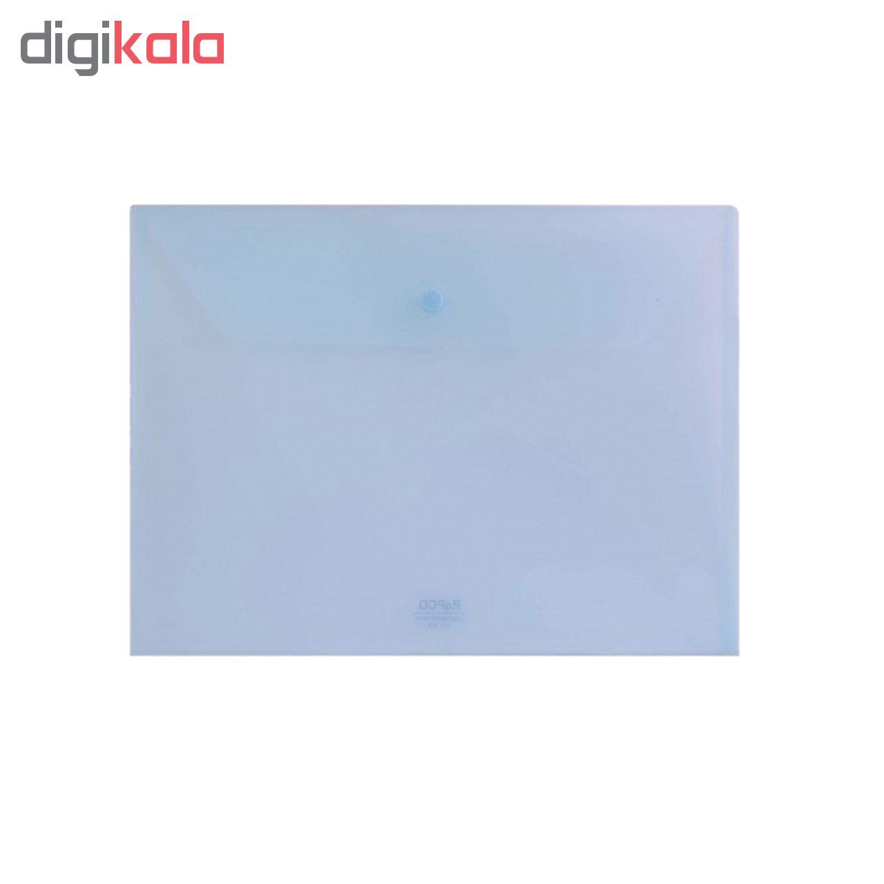 پوشه دکمه دار پاپکو مدل شفاف کد A4-104 بسته 4 عددی main 1 3