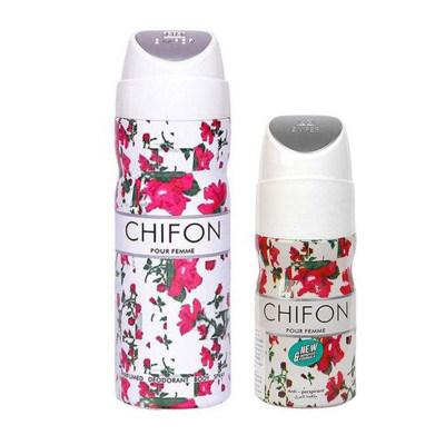 تصویر اسپری ضد تعریق زنانه امپر مدل Chifon حجم 200 میلی لیتر به همراه رول ضد تعریق