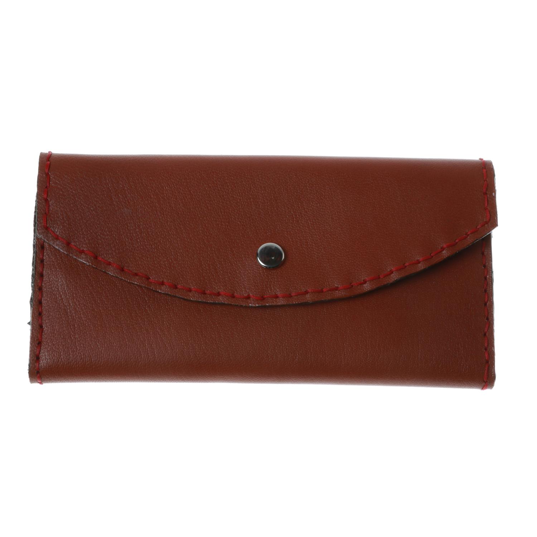کیف پول زنانه چرم طبیعی بز دست دوز کد 1182