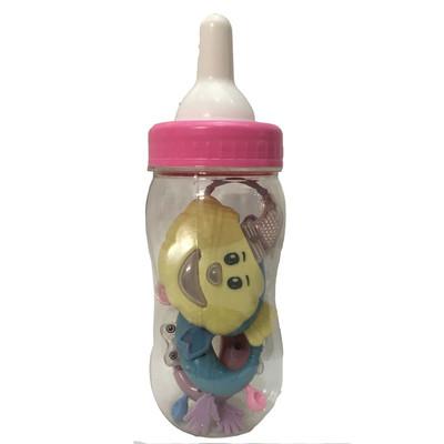 جغجغه کودک طرح شیشه شیر کوچک مدل 7124  بسته 4 عددی