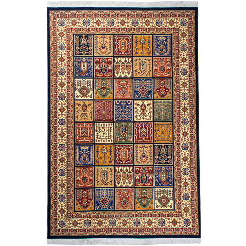 فرش ماشینی سهند کد V108.DU زمینه سورمه ای ۷۰۰شانه