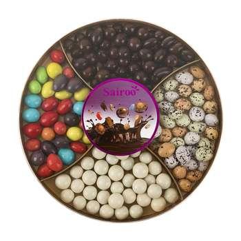 دراژه شکلاتی با روکش غلات سایرو مقدار 375 گرم