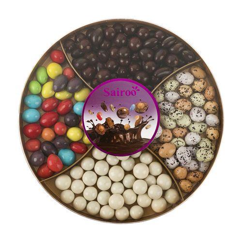 دراژه شکلاتی با روکش غلات سایرو وزن 500 گرم