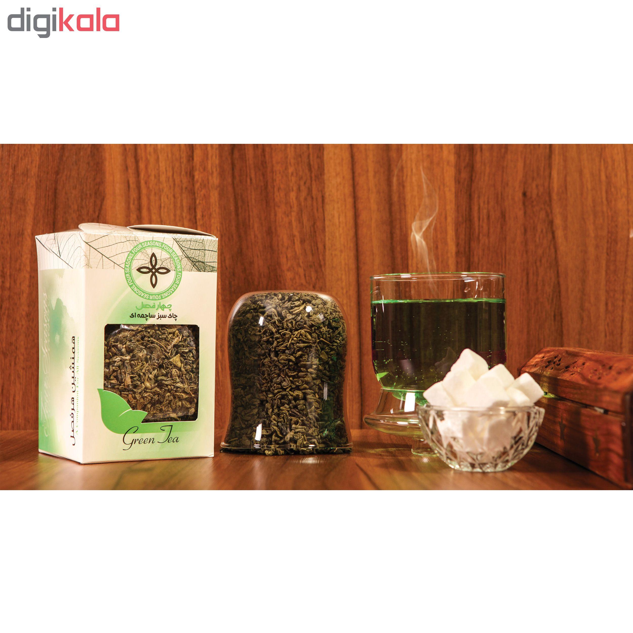 چای سبز ساچمه ای چهارفصل مقدار 200 گرم