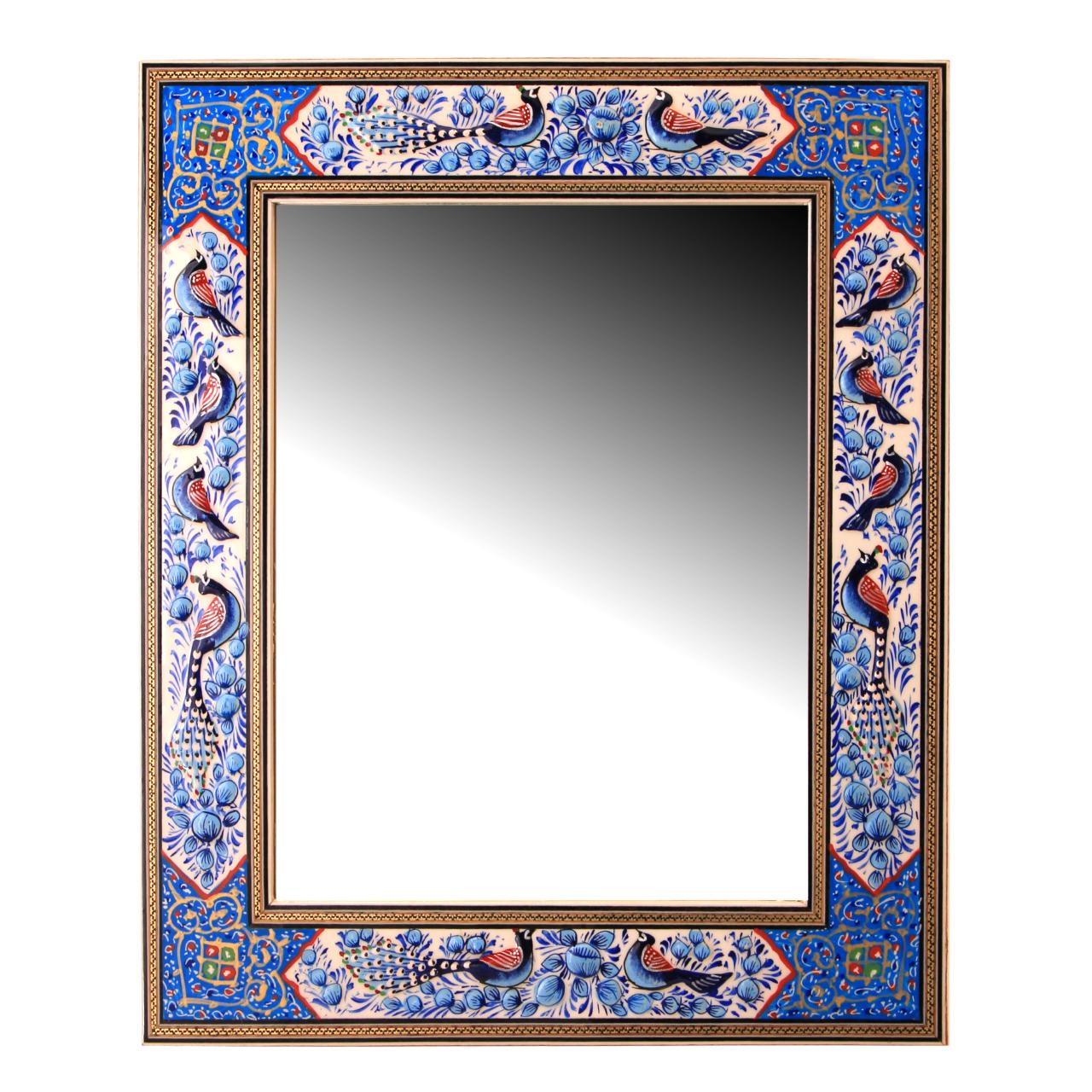 خرید                      قاب آینه خاتم کاری کد 1-70178