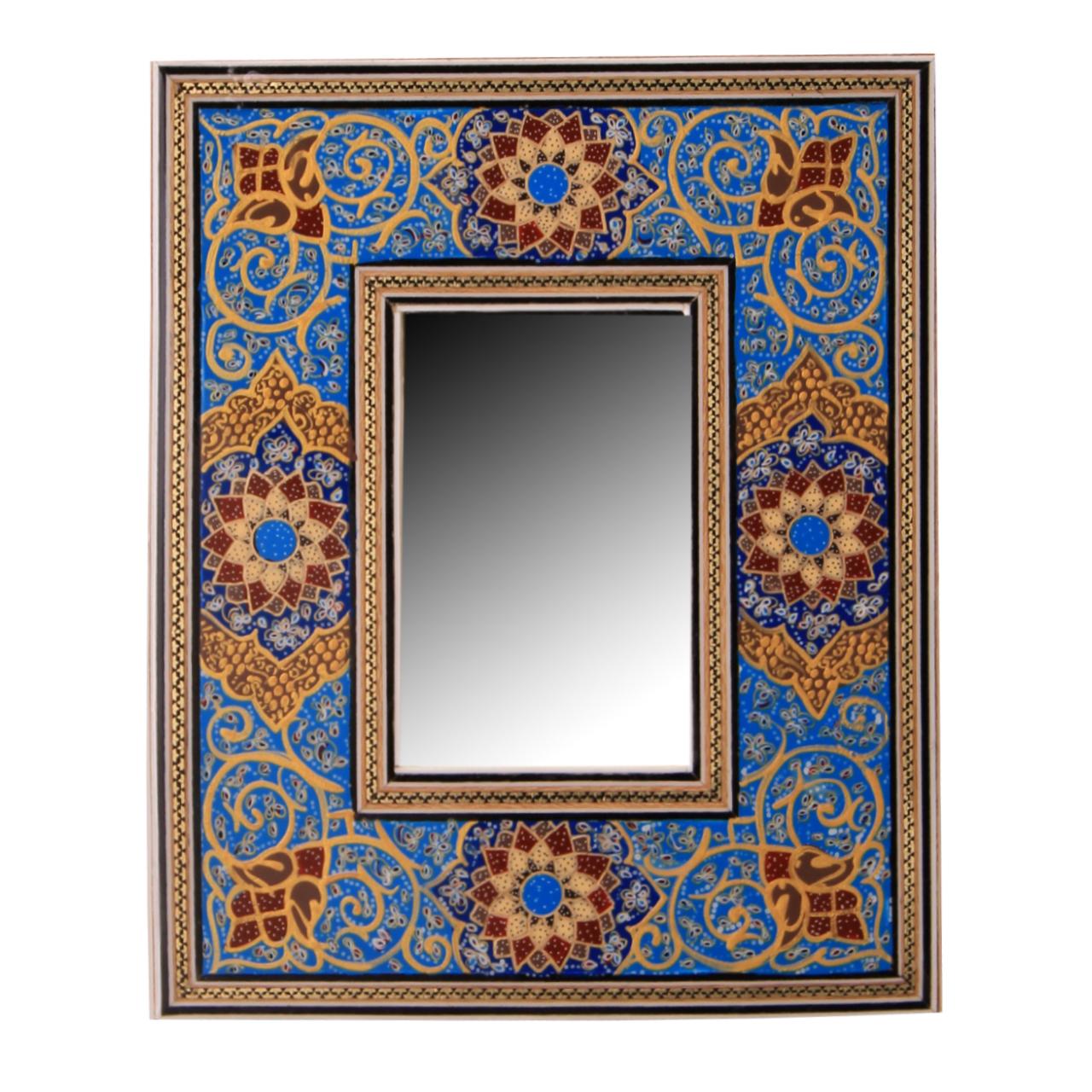 خرید                      قاب آینه خاتم کاری کد 1-70177