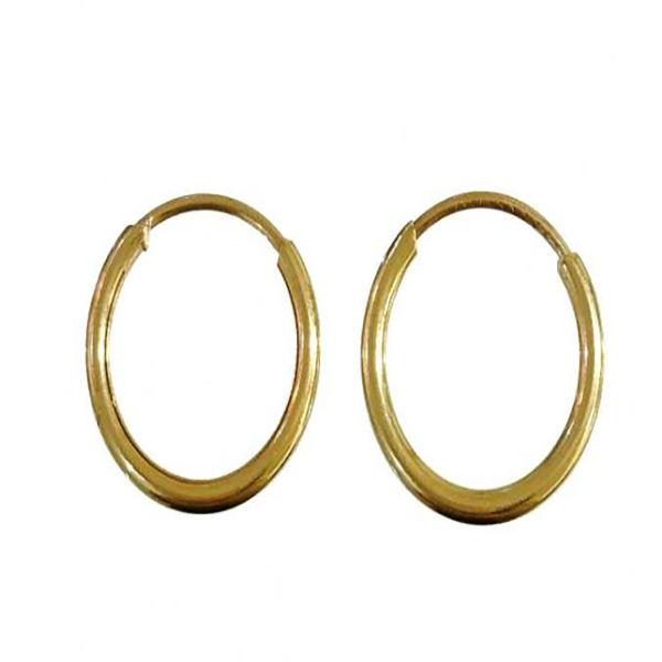 گوشواره طلا 18 عیار گیرا گالرى مدل حلقه