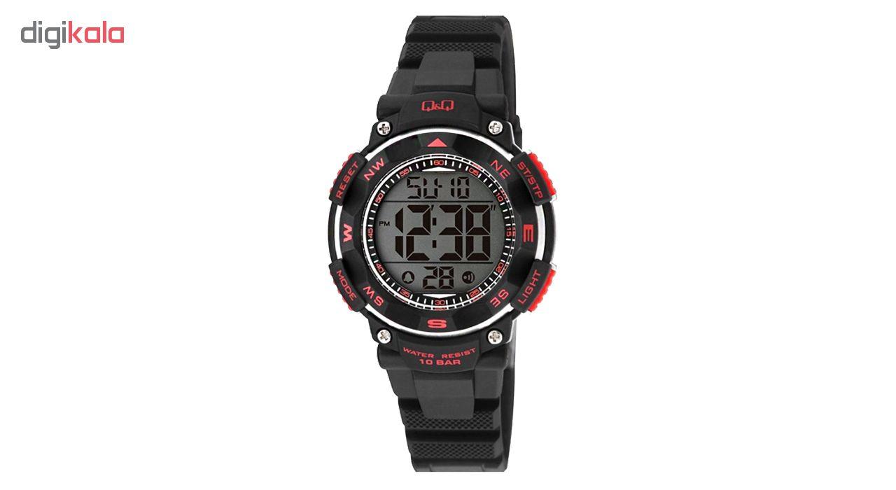 ساعت مچی دیجیتالی کیو اند کیو مدل m149j001y به همراه دستمال مخصوص برند کلین واچ