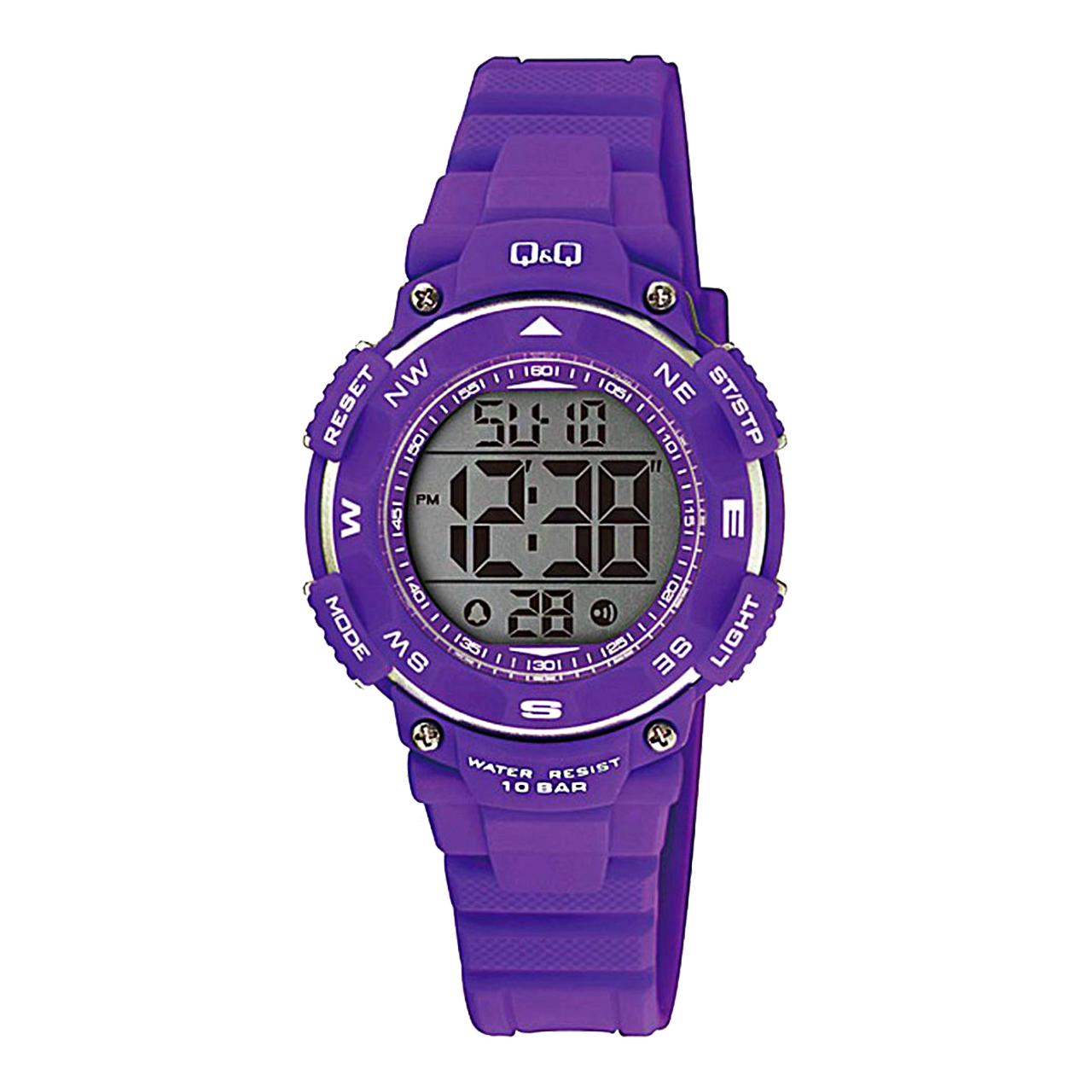 ساعت مچی دیجیتالی کیو اند کیو مدل m149j003y به همراه دستمال مخصوص برند کلین واچ 14