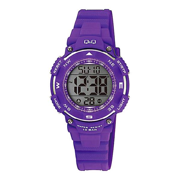 ساعت مچی دیجیتالی کیو اند کیو مدل m149j003y به همراه دستمال مخصوص برند کلین واچ