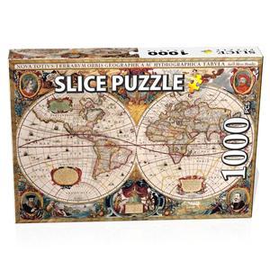 پازل 1000 تکه اسلایس مدل نقشه باستانی جهان کد:08956