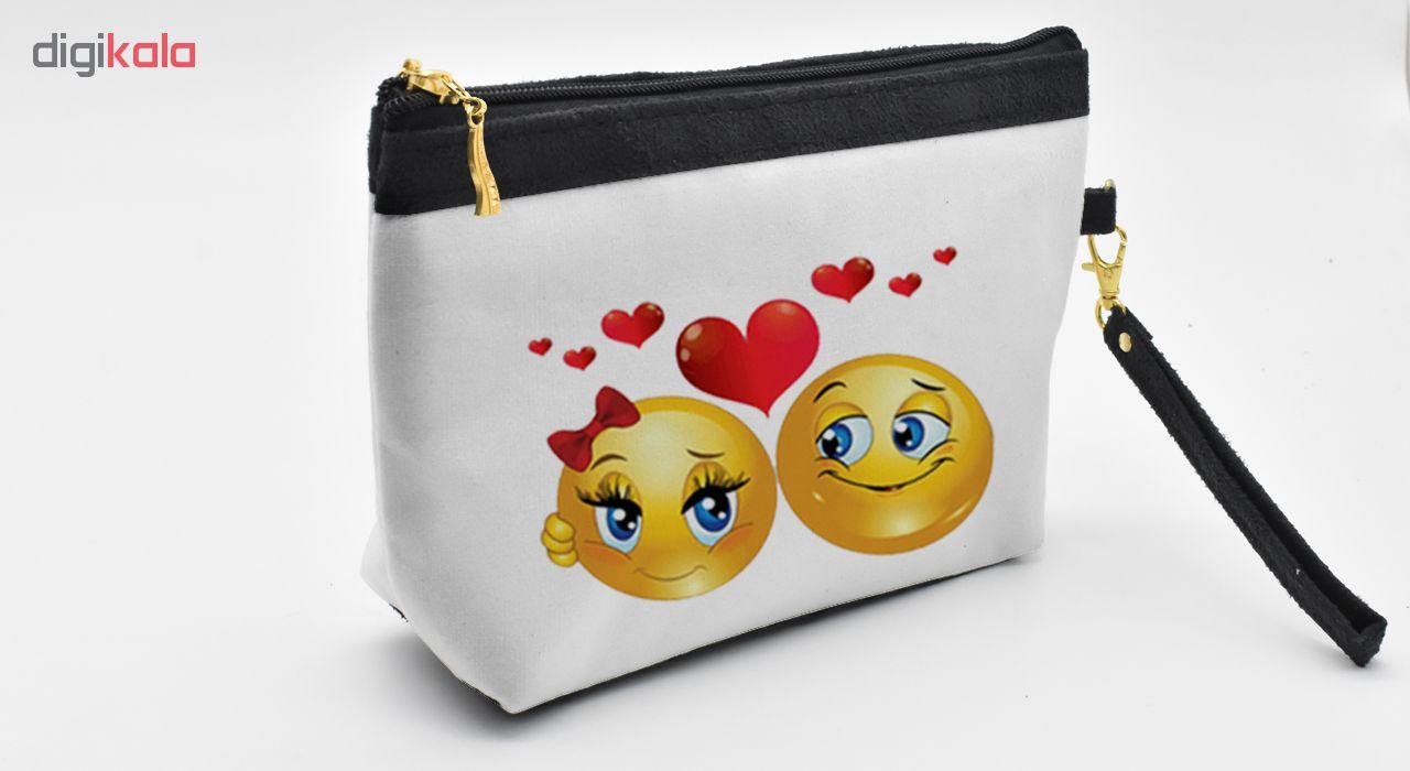 کیف لوازم آرایشی Love Emoji کد C20