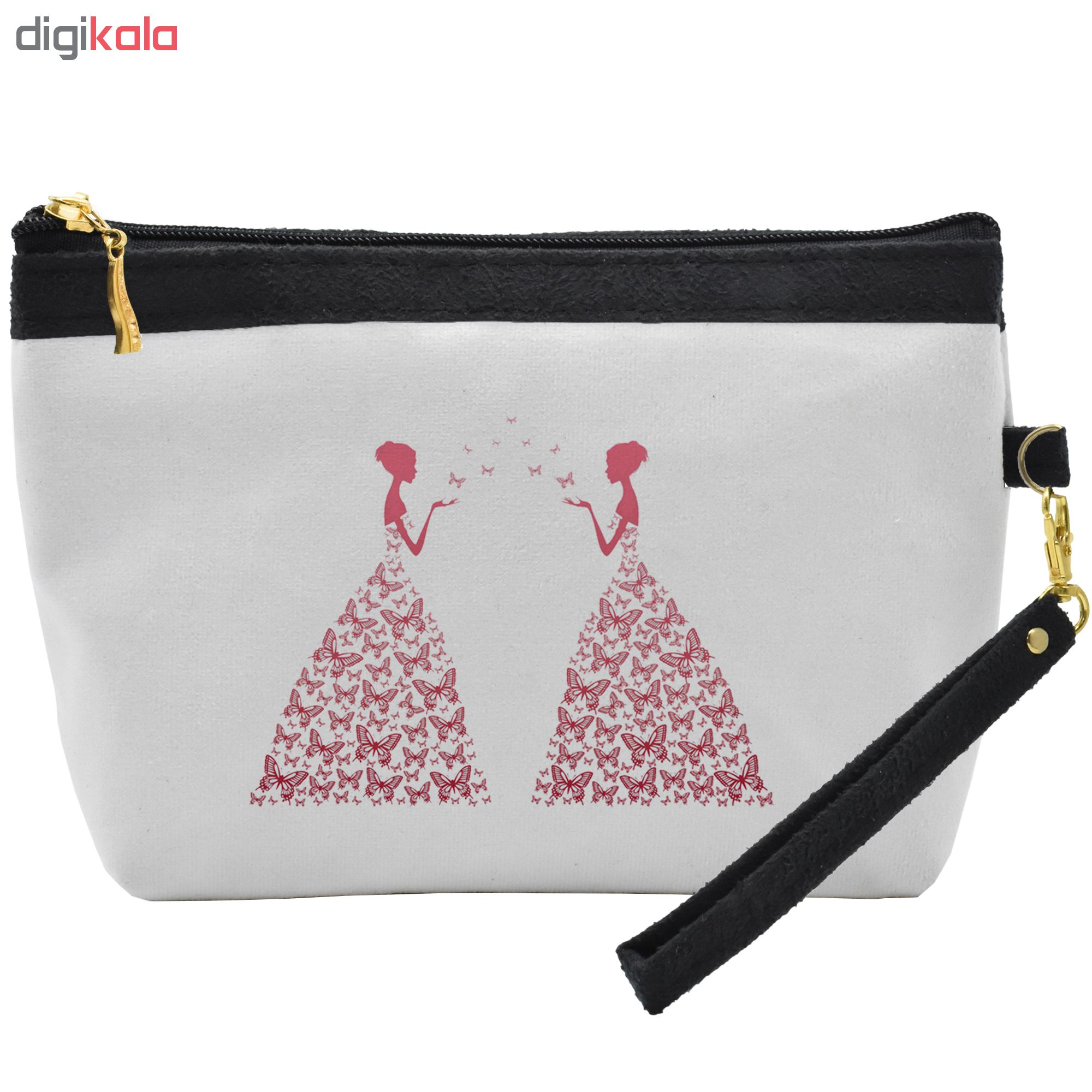 کیف لوازم آرایشی طرح ButterFly Woman کد C25