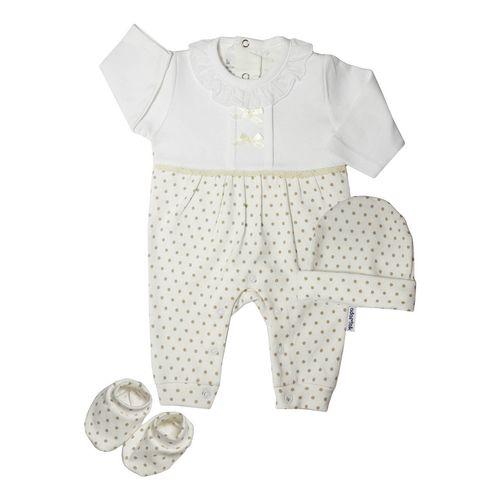 ست سه تکه لباس نوزادی آدمک مدل 133801W