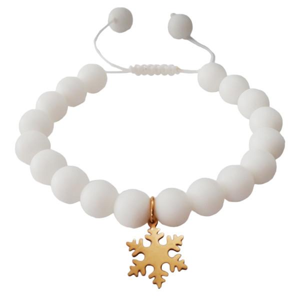 دستبند مهره ای مدل snowi