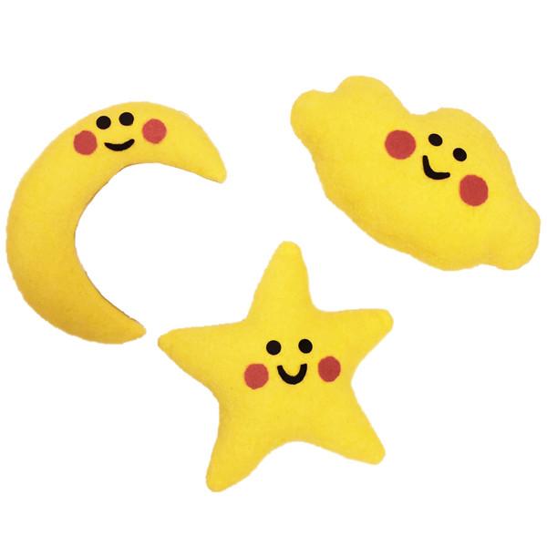 آویز تزیینیاتاق کودک طرح ماه و ستاره کد L17