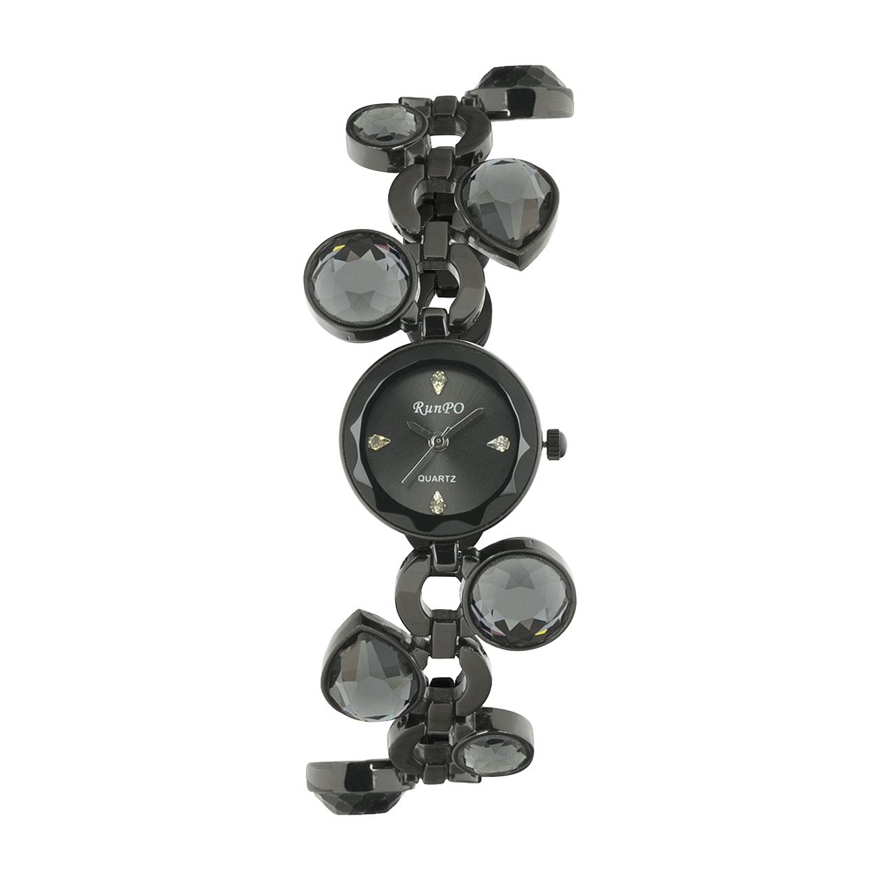 ساعت مچی عقربه ای زنانه رانپو مدل Black 216