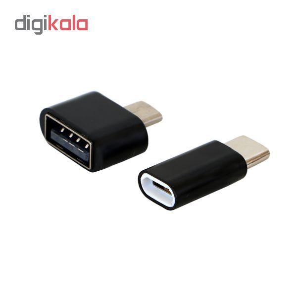 مبدل USB به microUSb مدل AB02  به همراه مبدل micro usb به type -c main 1 1