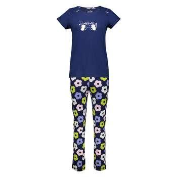 ست تی شرت و شلوار راحتی زنانه ناربن مدل 1521120-59 | Narbon 1521120-59 T-shirt And Pants Set For Women