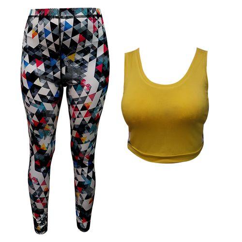 ست نیم تنه و لگ ورزشی زنانه کد 3026