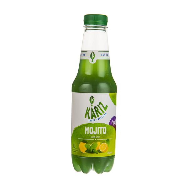 نوشیدنی بدون گاز  لیمویی با طعم نعناع پالپ دار کاریز مقدار 750 میلی لیتر