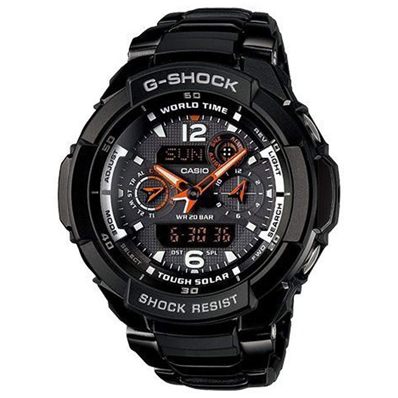 ساعت مچی عقربه ای مردانه کاسیو جی شاک مدل G-1250BD-1ADR