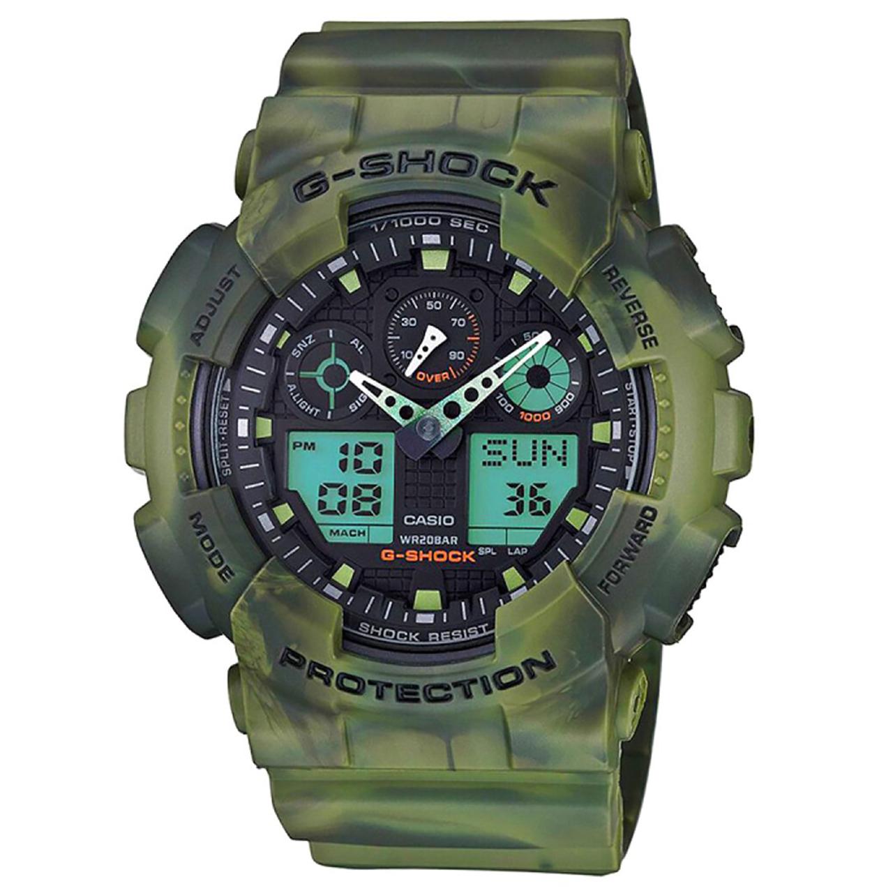 ساعت مچی عقربه ای مردانه کاسیو جی شاک مدل GA-100MM-3ADR