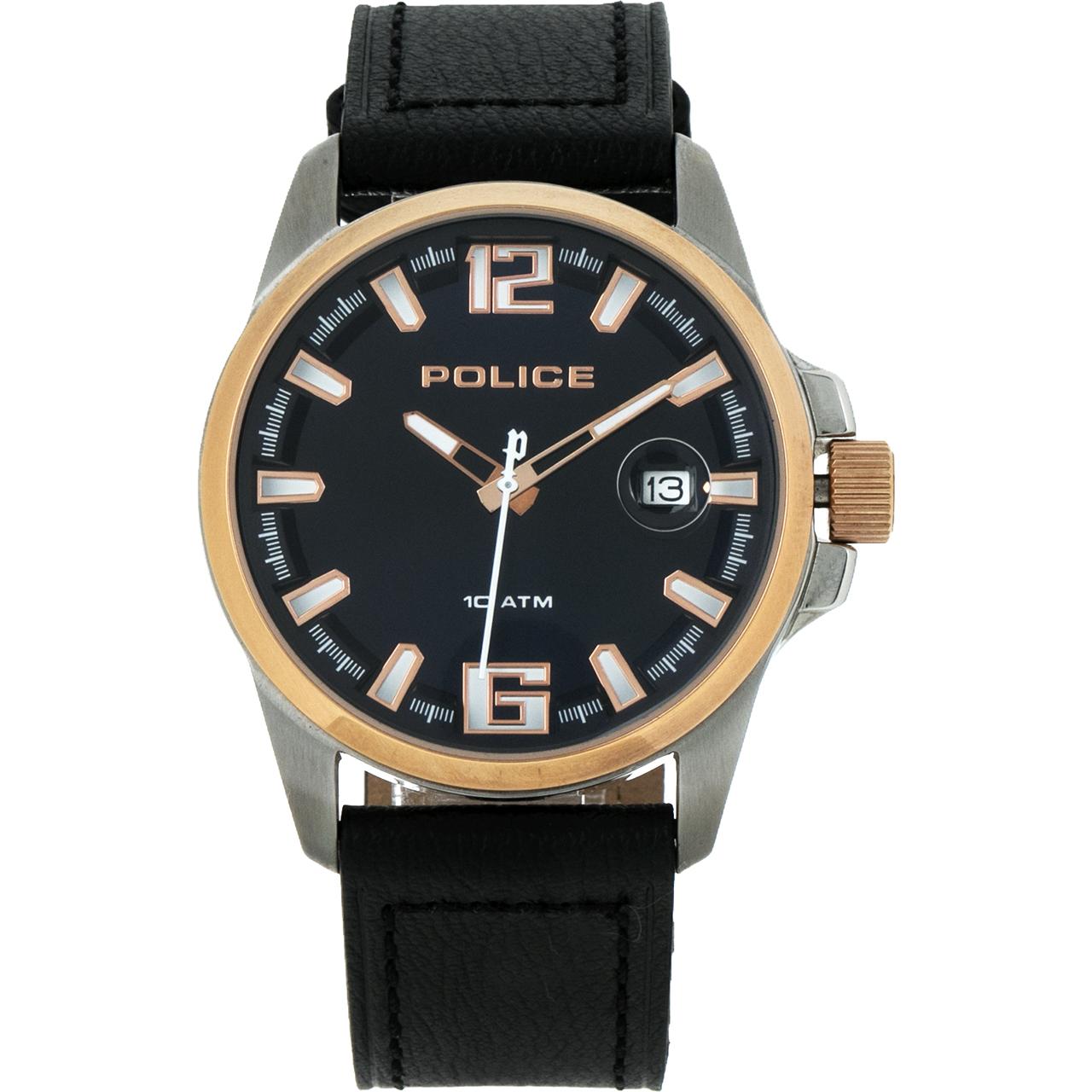 ساعت مچی عقربه ای مردانه پلیس مدل P12591JVSTR-03