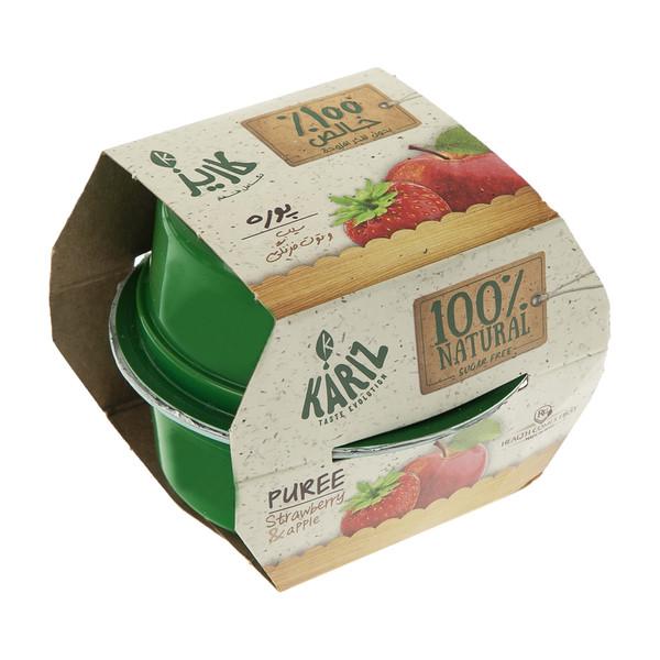 پوره مخلوط میوه سیب و توت فرنگی کاریز بسته 2 عددی