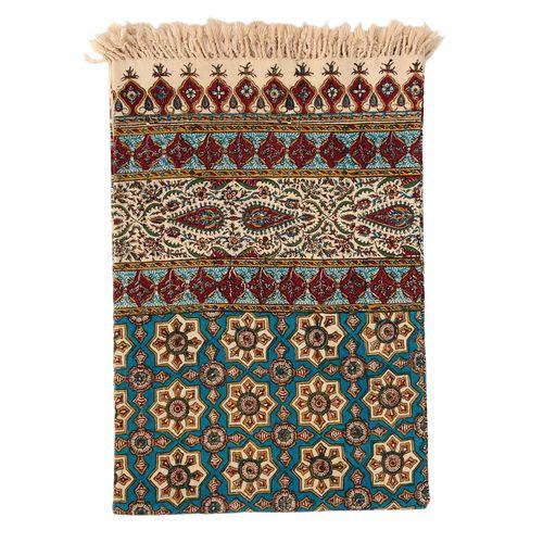رومیزی قلمكار ممتاز اصفهان اثر عطريان طرح صندوقي مدلG64سايز 200*135سانتي متر