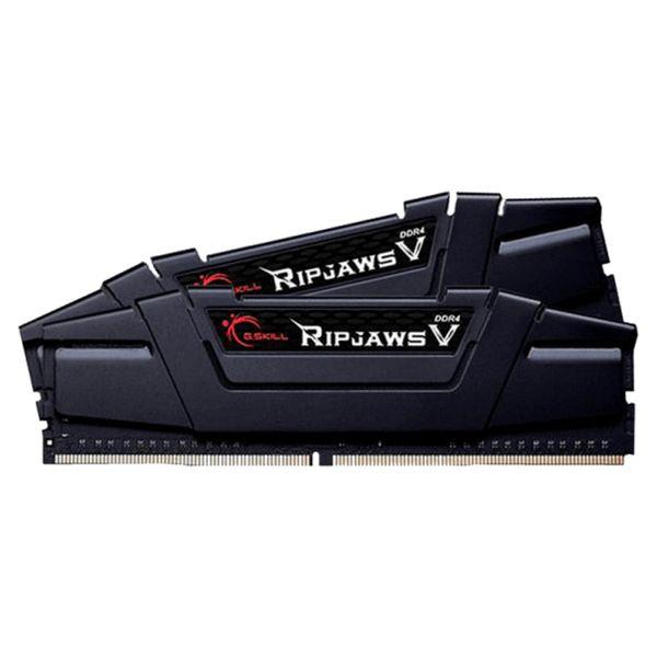 رم دسکتاپ DDR4 دو کاناله 3200 مگاهرتز CL16 جی اسکیل مدل ripjaws v ظرفیت 32 گیگابایت بسته دو عددی