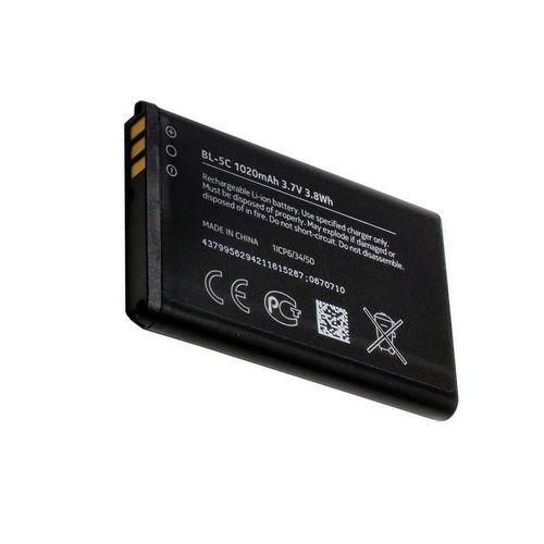 باتری موبایل نوکیا مدل BL-5C با ظرفیت 1020 میلی آمپر ساعت مناسب برای گوشی موبایل Nokia 5C
