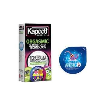 کاندوم کاپوت مدل ORGASMIC بسته 12 عددی به همراه کاندوم ناچ کدکس مدل بلیسر