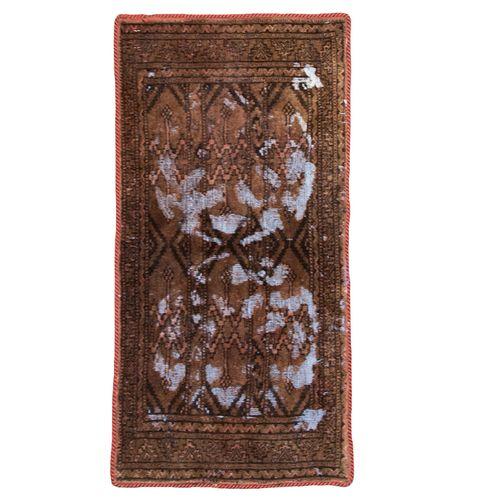 فرش دستبافت وینتیج نیم متری کد 9709027
