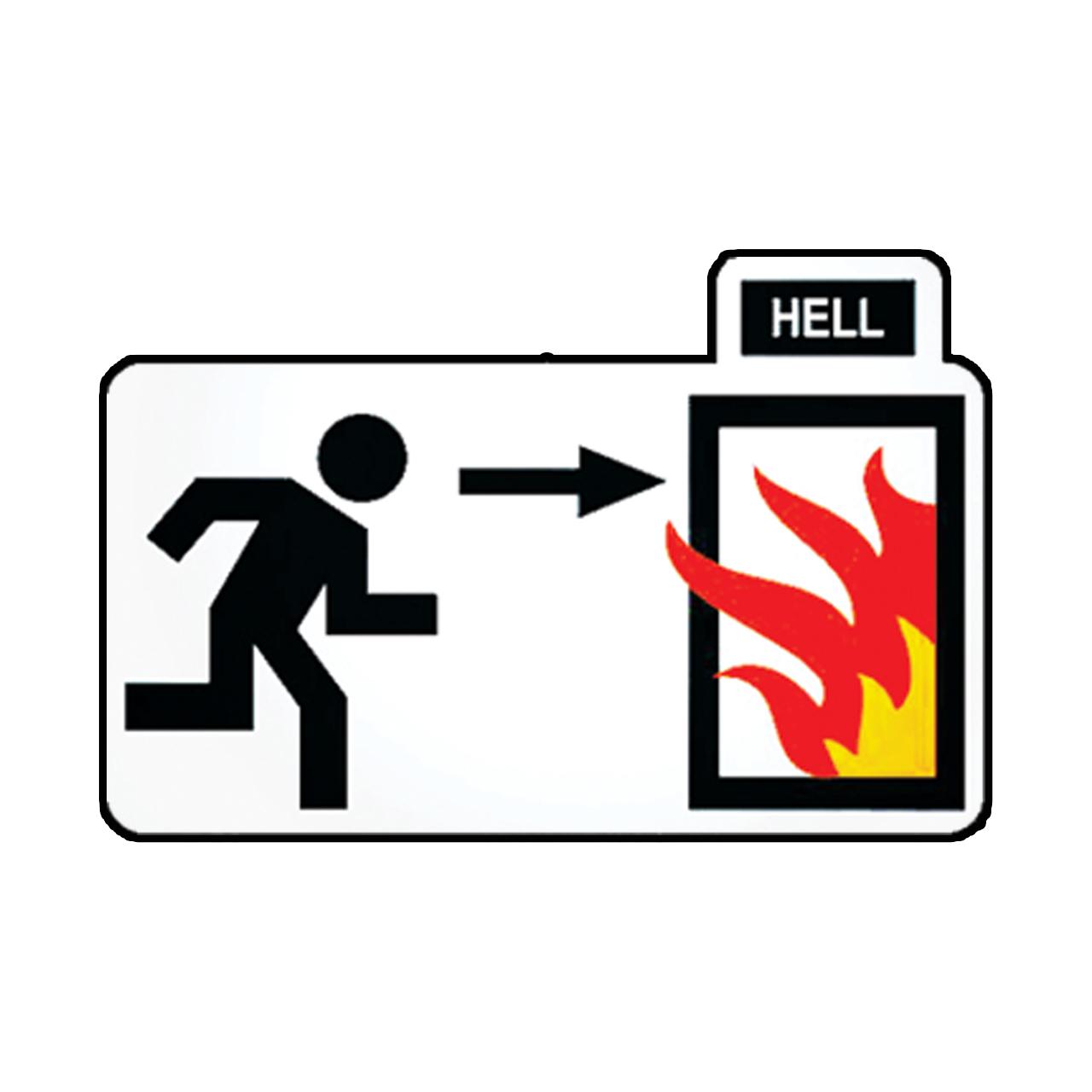 استیکر طرح Hell