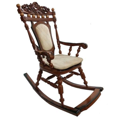 صندلی راحتی طرح راک مدل  Wood rocking king