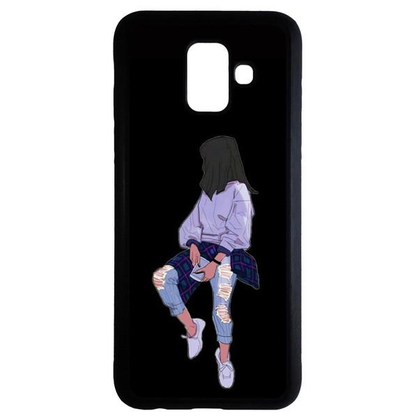 کاور طرح دخترانه کد 6640 مناسب برای گوشی موبایل سامسونگ galaxy a6 plus